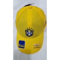 Boné Nike Brasil Cbf Amarelo Original
