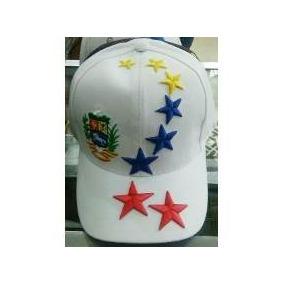 Gorras Blanca Con 8 Estrellas Y Escudo De Venezuela