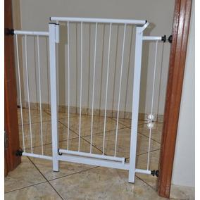 Portão Grade De Porta Cachorro Pet 79 Cm A 84 Cm Cão Cães