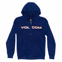 Campera Volcom Hombre - Euro Style Basic Zip Fleece