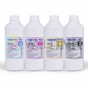 4 Litros Tinta Inkbank Impressora Hp Pro 8000 8100 8600 8610