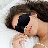 Antifaz Para Dormir Máscara 3d Negro Y Morado