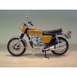 Miniatura Moto Honda Cb 750 Sete Galo Escala 1:12 Dourada