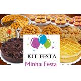 Kit Festa - Salgados, Docinhos, Bolos, Domicílio Buffet