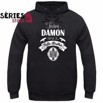 Blusa De Moletom The Vampire Diaries Serie Promoção Damon S