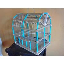 Jaula De Madera Para Aves/pájaros Mediana
