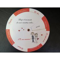 25 Invitaciones Giratorias Tarjetas De Casamiento 15 Años