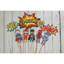 Decotorta Superheroes Toystories Mickey Zoe Jake Piratas