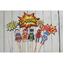 Decotorta Superheroes Toystories Mickey Zoe Jake Piratas