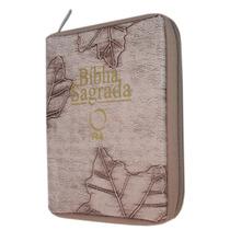 Bíblia Pequena Revista E Atualizada - Capa Com Zíper Marfim