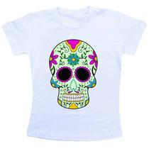 Camiseta Infantil Caveira Mexicana Co526