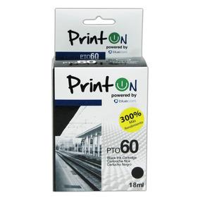 Cartucho Printon Compatible Con Hp #60, Negro Cc640wl Pto60n