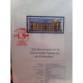Timbre Postal Conmemorativa Lx Aniversario Uach Filatelia