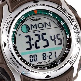 Reloj Casio Pathfinder Pas 400 /410 Lona Modo Caza Y Pesca.