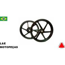 Jogo Roda Liga Leve Moto Titan/fan 150 Freio A Disco Fabreck