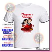 Kit Com 30 Camisetas Adulto Infantil Personalizadas