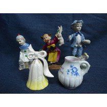 Lote 5 Figuras Porcelana Ideal Vitrina Antiguas (1995)