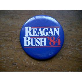 Pin Pins Reagan Bush 84 Original Retro Vintage Hipster