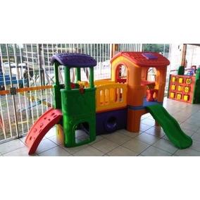 Playground Clubinho Plastico C/ Tunel Passarela Escorregador