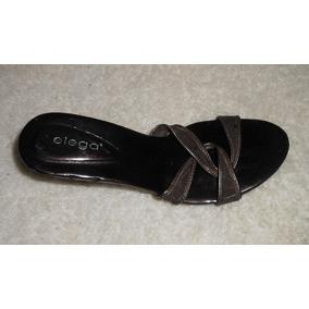 Elega! Preciosas Zapatillas Color Chocolate, Num 24