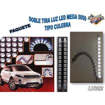 Doble Tira Luz Led Mega 5050 Tipo Culebra Roja Lu351