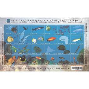 1998 - Folha De Selos - Fauna Marinha - Oceanos - Mint