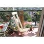 Silla Reposera De Pallet Reciclado, Plegable Ideal Balcon