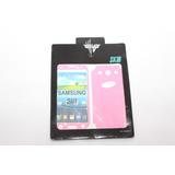 Skin Samsung S3 Color Rosado Fibra Carbono