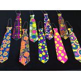 Corbatas Plasticas 47 Cm X12 Unid Carnaval Carioca Oferta!!