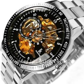 Relógio Automático Transparente - Luxo - Original Ik