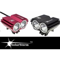 Lampara Bicicleta Solarstorm X 2 Cree 5000 Lumens Frontal