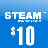 Steam Wallet Card Tarjeta De $10 Dolares Nueva