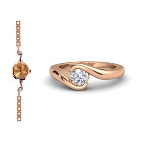 Reloj De Regalo Anillo Oro Rosa 10k Hermoso Set De Lujo