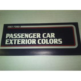 Codigo De Colores De Ford 1987 Mustang, Ltd, Fairmont, Tbird