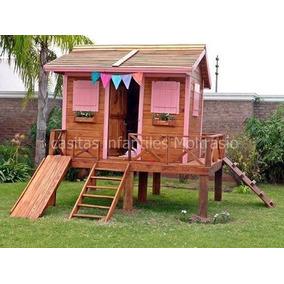Casita infantil de madera plano casas para ni os de for Casitas infantiles jardin baratas