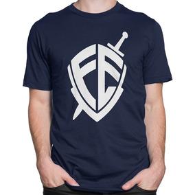 Camiseta Camisa Evangélica Escudo Da Fé Gospel Personaliza