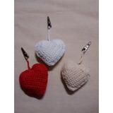 Pesas Para Manteles Corazon Crochet El Cristal Encantado