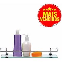 Porta Shampoo Prateleira Com Base De Vidro Retangular