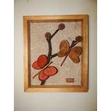 Cuadros Artesanales Con Mariposas Y Flores De 32 X 37 Cm