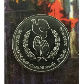 Moeda Comemorativa Soviética-russa/1 Kop/1986/ano Da Paz/onu