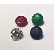 1 Safira De 1mm 1 Rubi De 1mm 1 Esmeralda 1mm 1 Diamante 1m