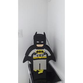Piñata Batman De Cartón Y Goma Eva!