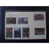 Guatemala Hermosa Tarjeta Postal Con 7 Estampillas Sellos