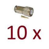 Mega Kit Com 10 Cn-190 Conector Tnc Macho