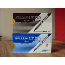 Caneta Roller Tip Pen .ah-2000a O.5mm 2 Caixa 12 Un Pt/azul