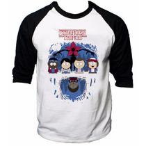 Camisa Raglan 3/4 Stranger Things South Park Eleven Will