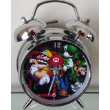 Reloj Despertador Estilo Vintage Mario Bros De Mesa Alarma