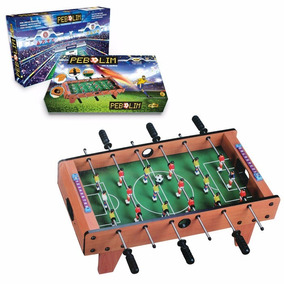Mini Mesa Pebolim Futebol Totó Com Placar Bola 69x37x24 Cm