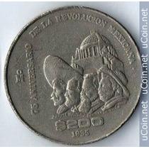 Una Moneda 200 Pesos 75 Aniv La Revolución Condicion Usada
