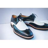 Zapatos De Cuero Artesanal A Medida Hombre Fondo Goma Eva